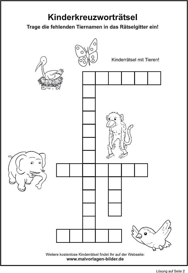Kinderrätsel als pdf datei ausdrucken