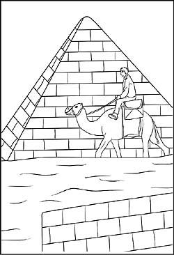 Ägypten, pyramiden und sphinx - malvorlagen und ausmalbilder