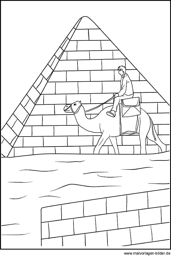 Charmant Pyramiden Malvorlagen Zeitgenössisch - Druckbare ...
