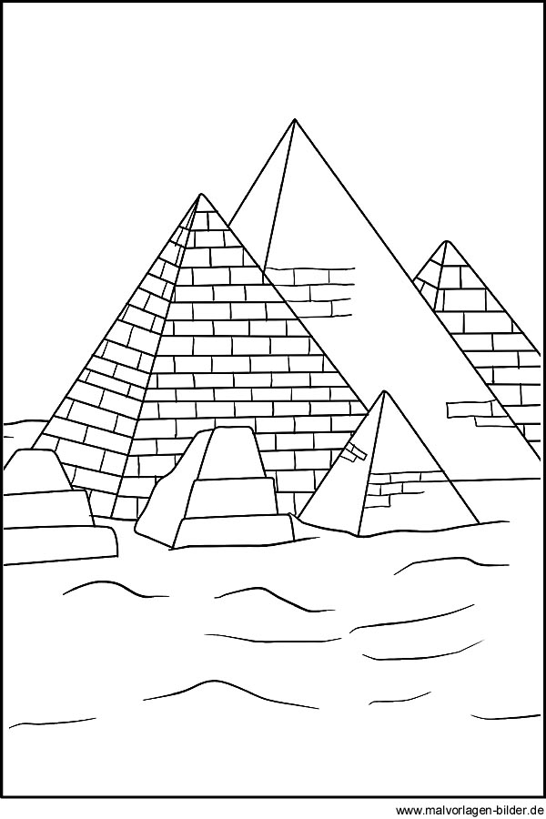 pyramiden als malvorlagen zum kostenlosen ausdrucken