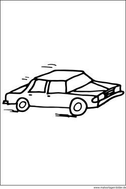 Gratis Malvorlagen und Ausmalbilder von Autos zum kostenlosen Ausdrucken