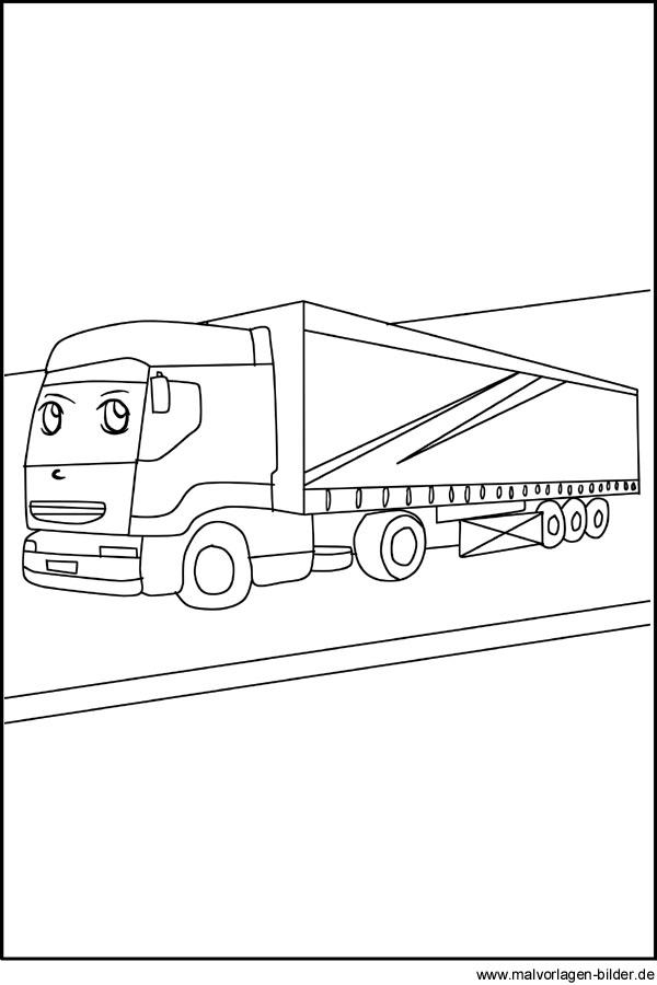 Lastwagen - LKW - Kostenlose Malvorlagen für Kinder