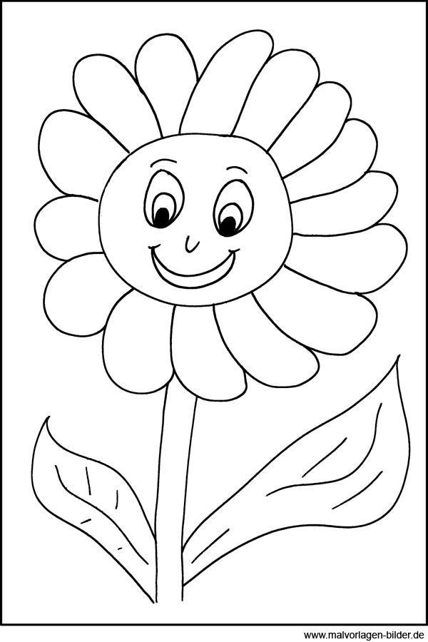Malvorlagen von Blumen  Kostenlose Window Color Bilder zum Ausdrucken