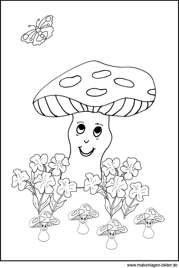 Pilze Malvorlagen Zum Ausdrucken Und Ausmalen