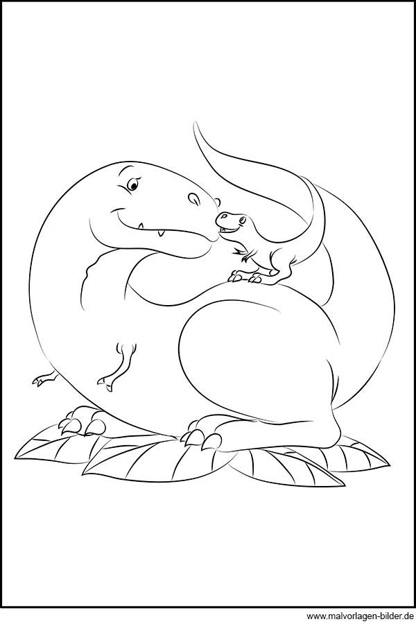 Dinosaurier Baby Gratis Ausmalbild Für Kinder