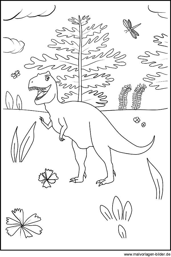 Kostenlose Ausmalbilder von Dinosaurier und Dinos