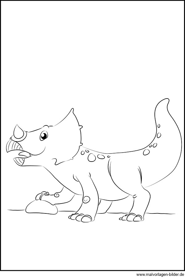 Baby Dinosaurier - gratis Ausmalbild zum Ausdrucken