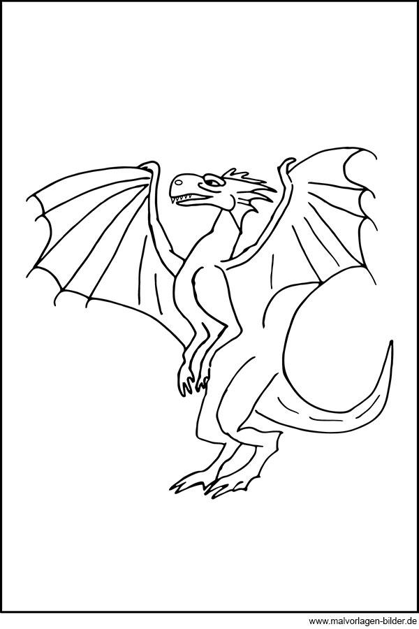 Drachen Ausmalbilder Zum Ausdrucken