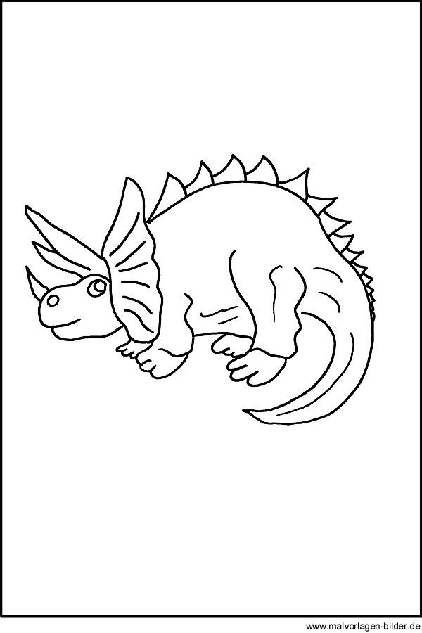 Dinosaurier Kostenlose Malvorlage Fur Kinder