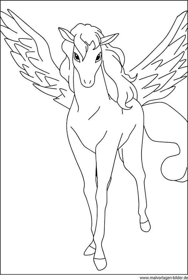 Pegasus - Kostenlose Ausmalbilder zum Ausdrucken