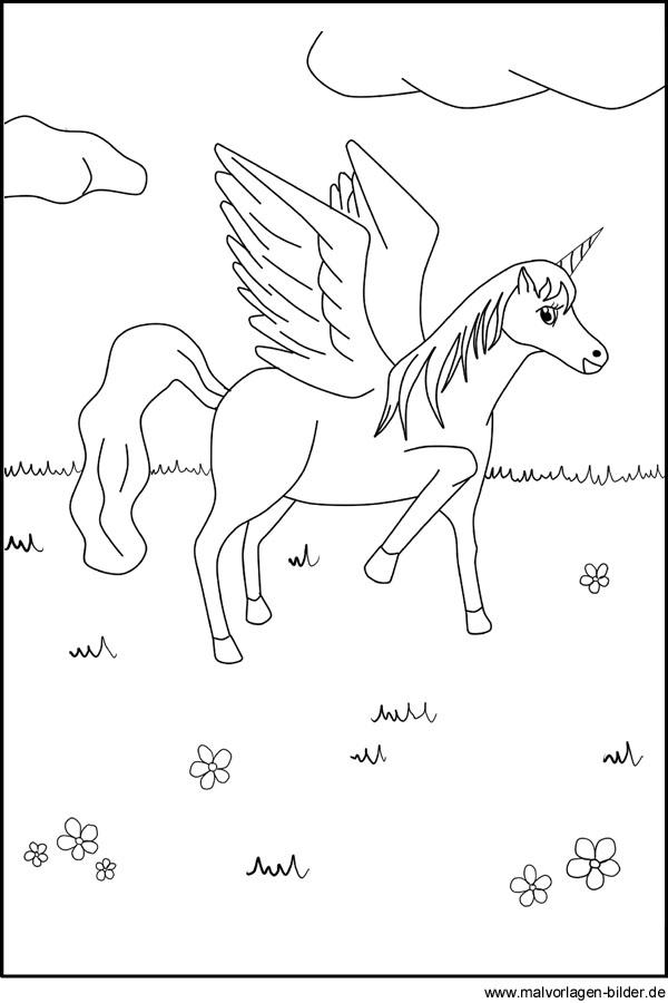 pegasus bild  malvorlage zum ausdrucken