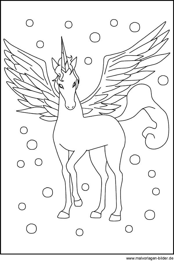 Pegasus Malvorlagen Fur Kinder Zum Ausdrucken