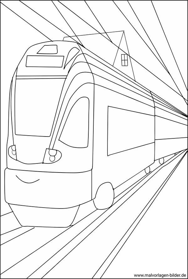 Straßenbahn - gratis Malvorlagen und Ausmalbilder
