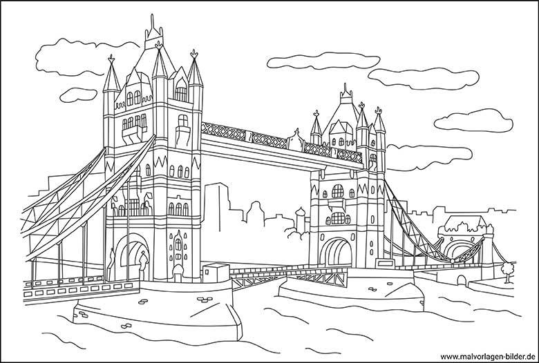 Tower Bridge In London Malvorlagen Fur Erwachsene