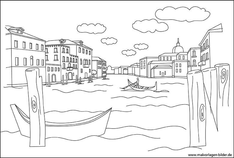 Venedig Malvorlage Fur Erwachsene Zum Ausdrucken