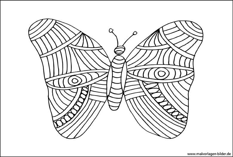 Schmetterling zum ausmalen 39 Schmetterling