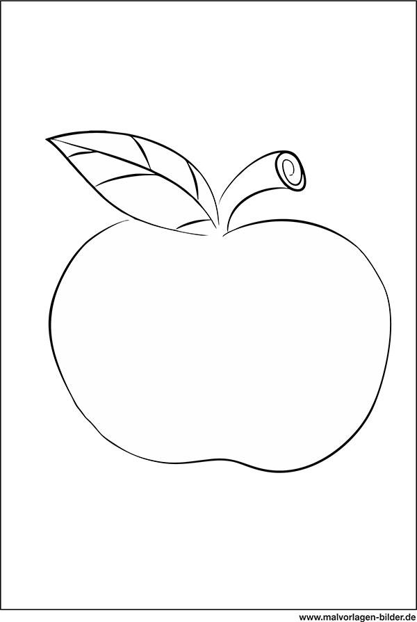 Apfel Ausmalbild Zum Ausdrucken