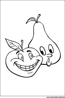 Obst Und Gemüse Ausmalbilder Malvorlagen