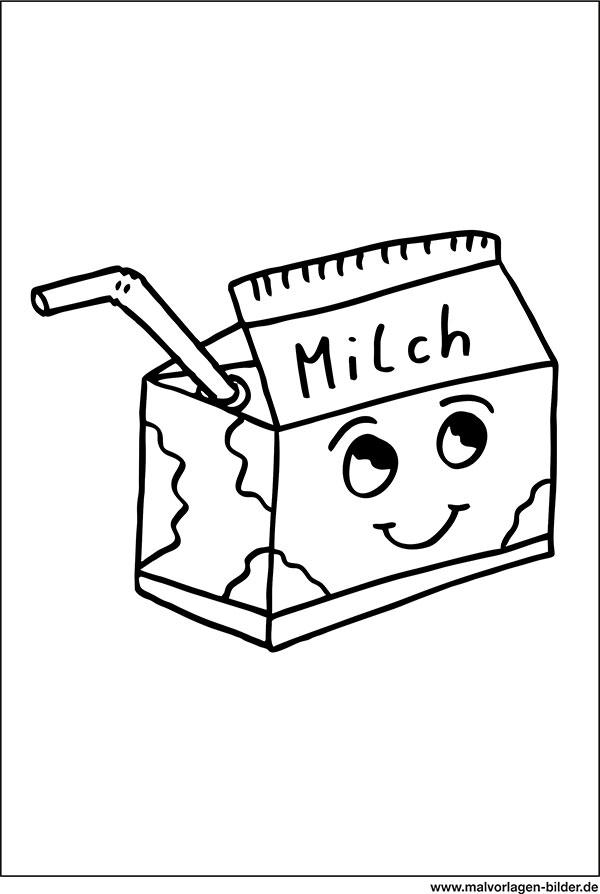 Milchtüte Ausmalbilder Malvorlagen