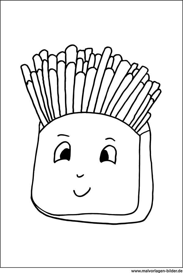pommes frites  kostenlose ausmalbilder zum ausdrucken