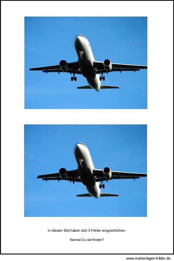 fehlerbild finde die fehler im flugzeug bild