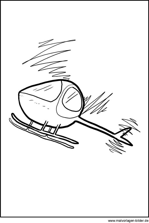 Hubschrauber Ausmalbilder Zum Ausdrucken Und Ausmalen