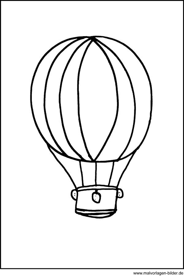 Window Color Bild von einem Heissluftballon - Ausmalbilder