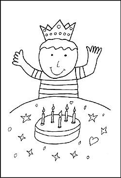 Geburtag Party | Malvorlagen Ausmalbilder