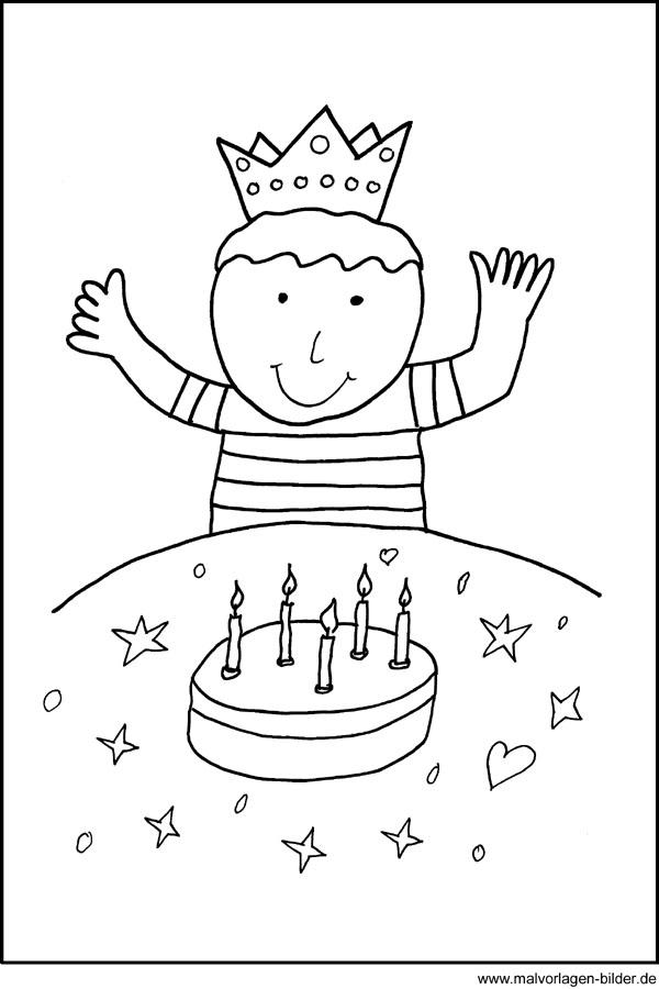 Malvorlagen zum Geburtstag - Kostenlose Window Color Bilder für Kinder