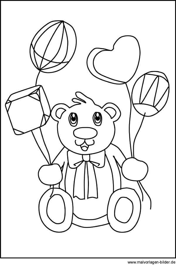 Teddybär Kostenlose Malvorlagen Und Ausmalbilder