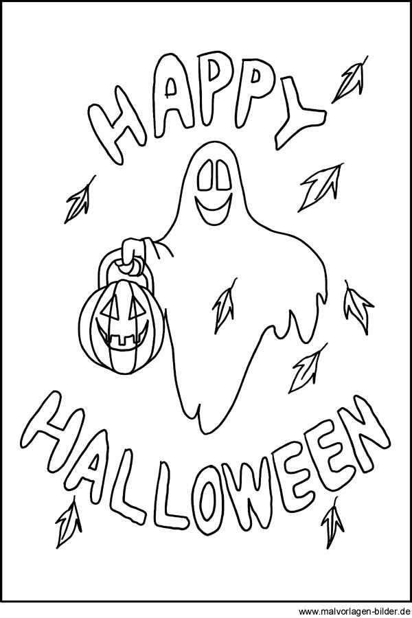 Ausmalbild Zu Halloween Motive Und Bilder Zum Ausdrucken
