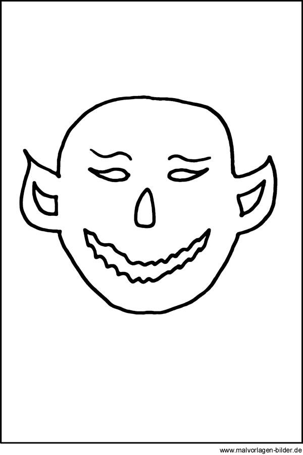 monster malvorlage  kostenlose ausmalbilder zu halloween