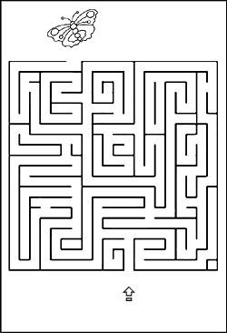 Labyrinth rätsel für kinder - irrgarten zum nachmalen