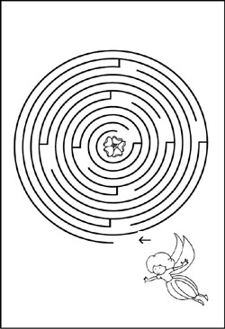 Labyrinth - Bild - Vorlage - Fee