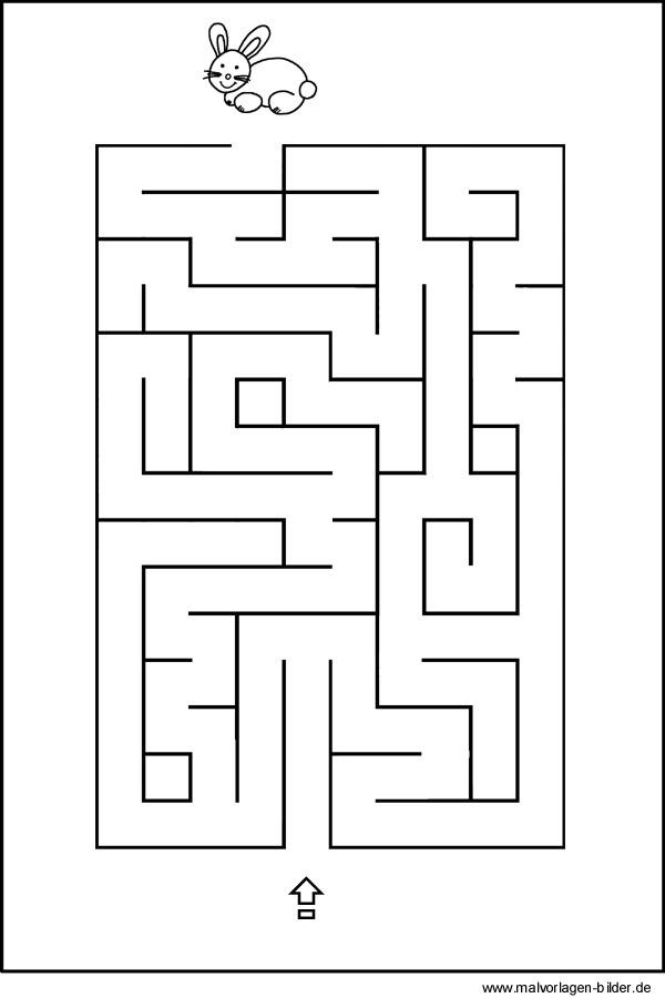 Labyrinth Bild - Rätsel für Kinder zum Ausdrucken