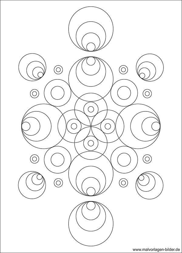 Kreis Und Muster Malvorlage Ab 10 Jahren