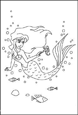 Meerjungfrauen Als Malvorlagen Und Ausmalbilder Zum Ausdrucken