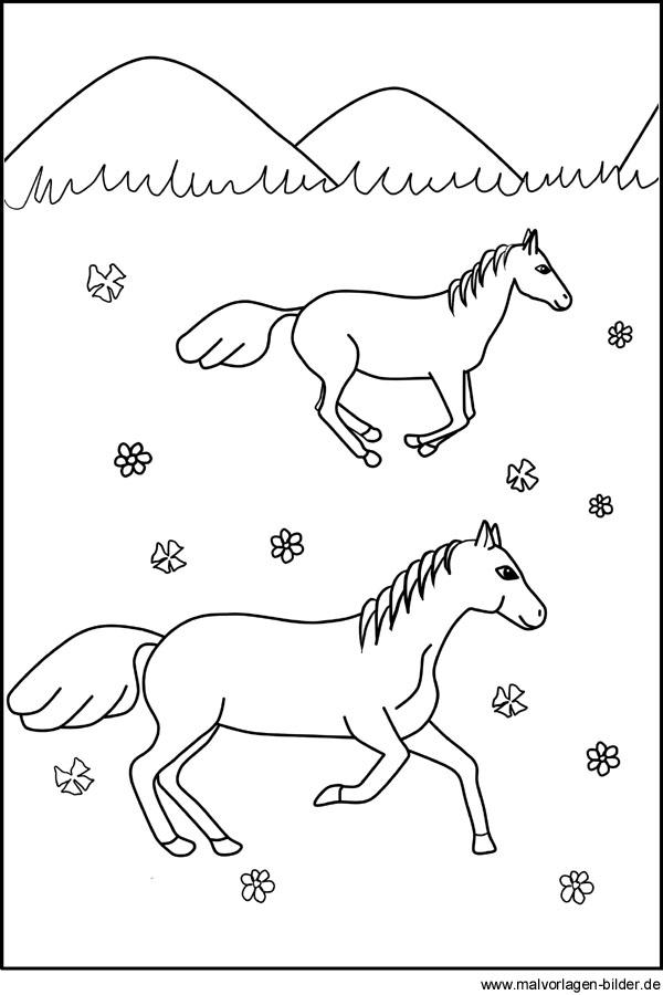 Pferde Ausmalbilder Für Kinder Zum Ausdrucken