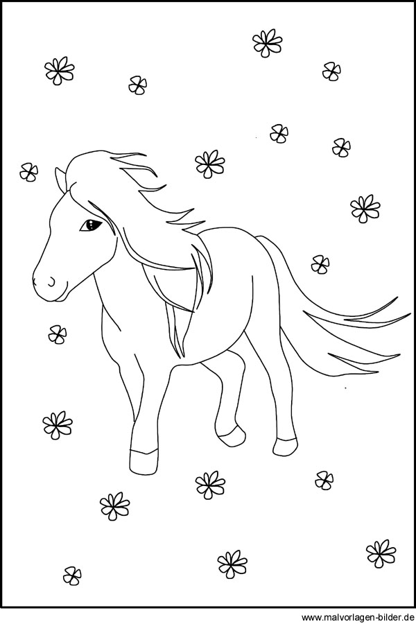 Kostenloses Ausmalbild von einem Pony