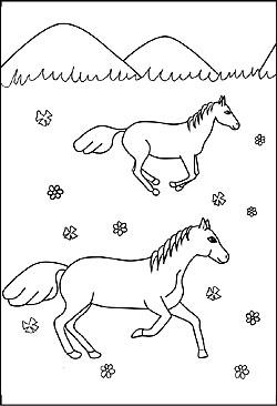 pferde - malvorlagen und ausmalbilder für kinder - kostenlose malbilder
