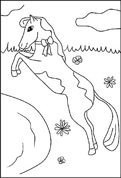 Pferde malvorlagen und ausmalbilder fr kinder kostenlose pferde als ausmalbilder pferde bildvorlage altavistaventures Image collections