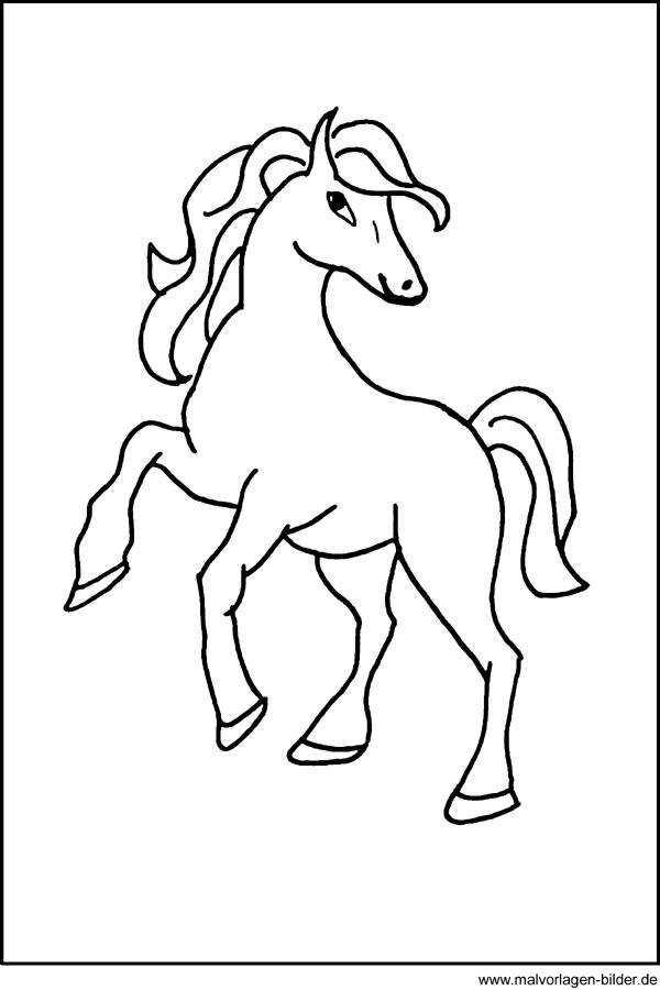 Pferde  Malvorlagen und Ausmalbilder fr Kinder  kostenlose
