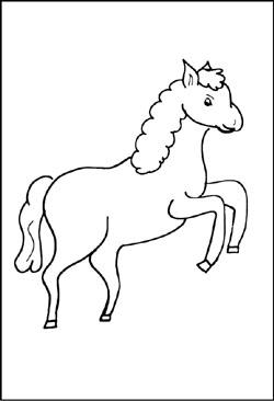 Pferde - Malvorlagen und Ausmalbilder für Kinder - kostenlose ...