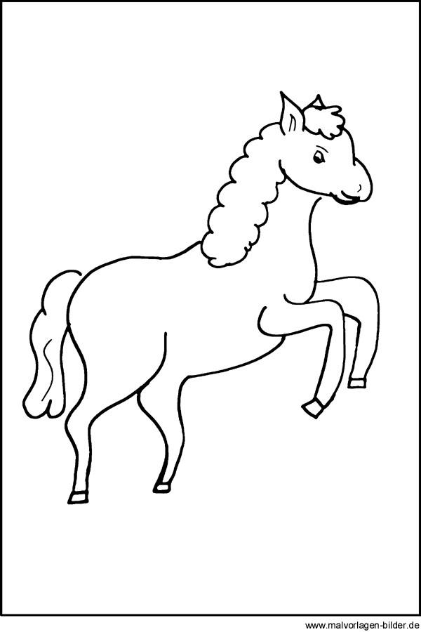 Kostenloses Pferde Ausmalbild für Kleinkinder