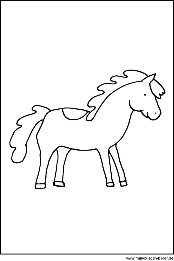 Kostenlose Malvorlage von einem Pony | Ausmalbilder für Kinder