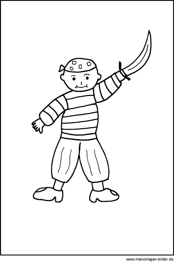 malvorlage pirat  gratis ausmalbilder für kinder