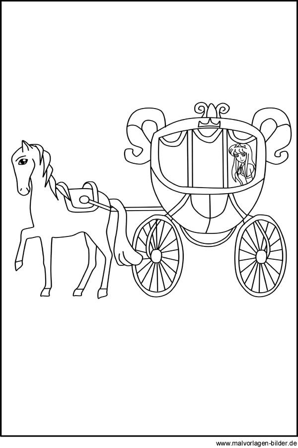Malvorlagen und Ausmalbilder - Kutsche - Märchenkutsche