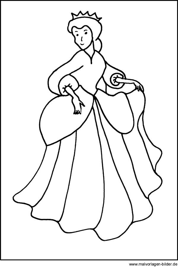 Malvorlage Königin Kostenloses Window Color Bild
