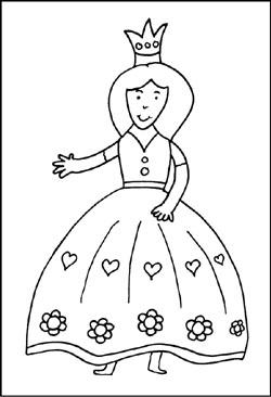 Malvorlagen für kinder von prinzessin königin prinz und