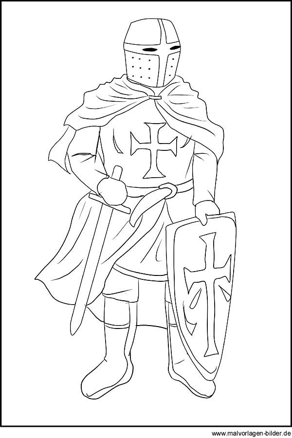 Ritter Gratis Malvorlagen Für Kinder